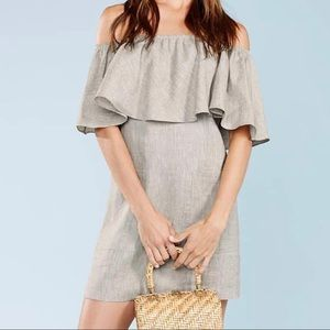 Reformation Tennessee Off-the-shoulder Dress Small